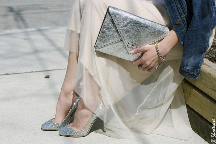 Toronto-Street-Style-Fashion-Tulle-SKirt-Glitter-High-Heel-Shoes-+-Silver-Clutch